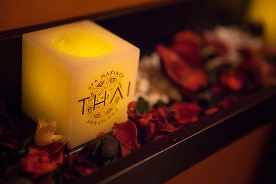 Thai Spa Massage Barcelona: Detalle Velas de leds