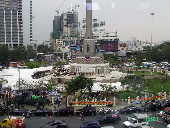 Military ceremony at Victory Monument