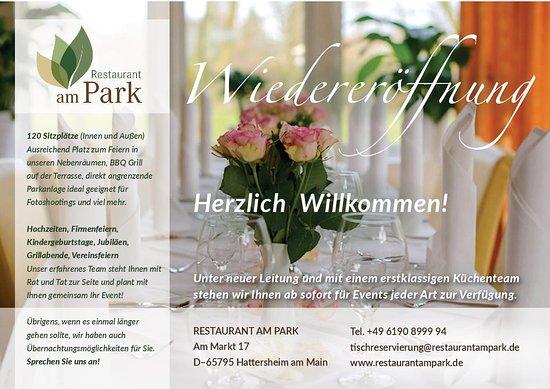 Hattersheim, Alemania: Wiedereröffnung 2017 Restaurant am Park