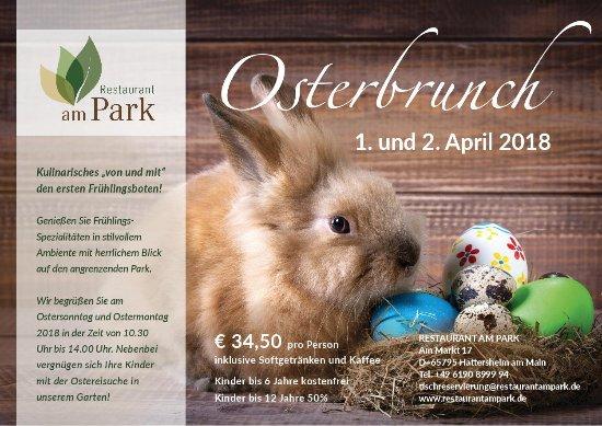 Hattersheim, Alemania: Osterbrunch 2018 Restaurant am Park