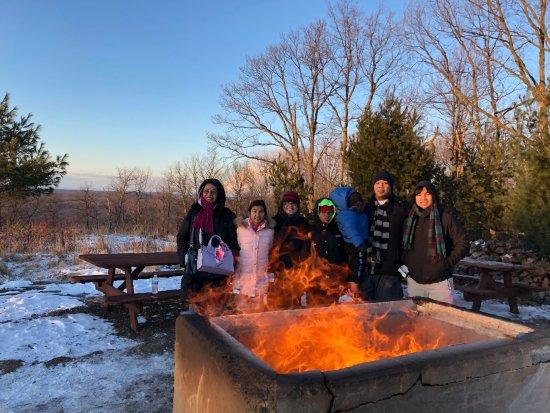 Hazleton, PA: warm up