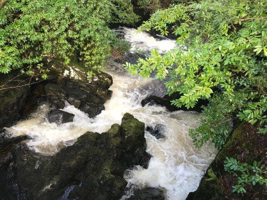 Kilchrenan, UK: Hotel and rapids adjacent.