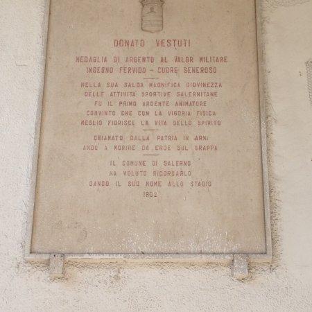 Salerno, Italia: Lapide