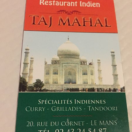 restaurant taj mahal dans le mans avec cuisine indienne. Black Bedroom Furniture Sets. Home Design Ideas