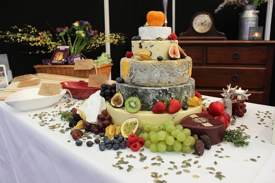 One Of Johns Heavenly Wedding Cakes Made Of Cheese Picture Of