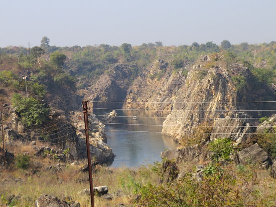 Bhedaghat, India: View from hotel