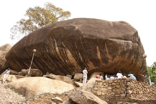 Abeokuta, ไนจีเรีย: Vista della roccia a metà salita