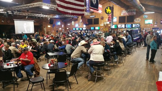 Casper, WY: You can bet on horse and greyhound racing and play the gaming terminals inside the Beacon Club.