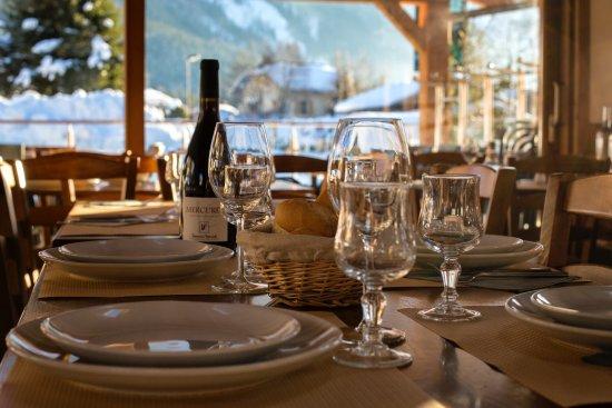 Les Praz-de-Chamonix, Frankrike: Table en hiver
