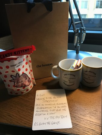 The Hoxton Shoreditch Surprise Birthday Gift From Hotel