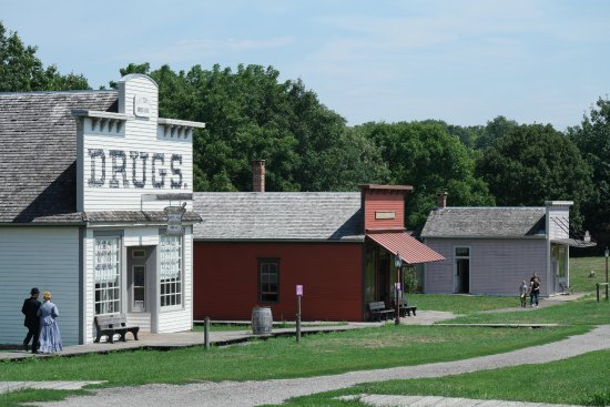 Urbandale, IA: The Main Street featuring the Drug Store, Law Office and Millinery