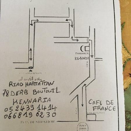 Riad Harmattan: Map