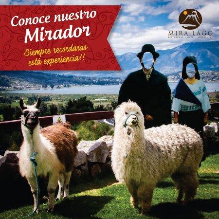 San Pablo Del Lago, Эквадор: Tenemos el mirador ideal para las mejores fotos!