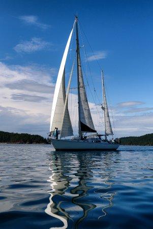 Deer Harbor, WA: Post Wedding Sail aboard Winkapew. Photo credit: Matt Hucke