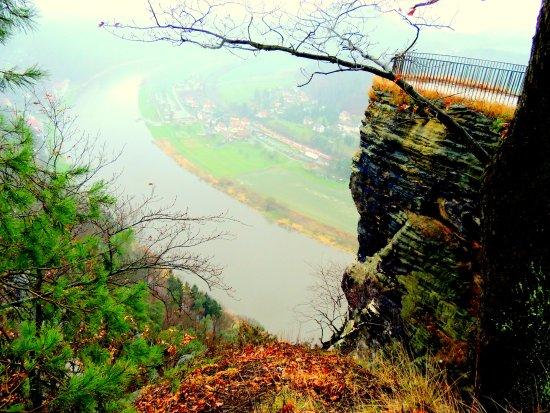 Bastei, Duitsland: Вид на долину р. Эльба