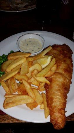 Dulas, UK: Cod and chips