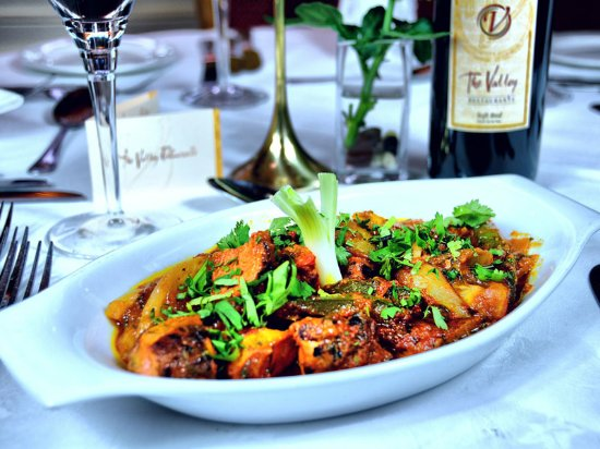 Chicken Tikka Dupiaza Chicken Tikka Jalfrezi With Garlic Naan
