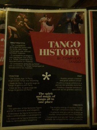 Complejo Tango: cardápio