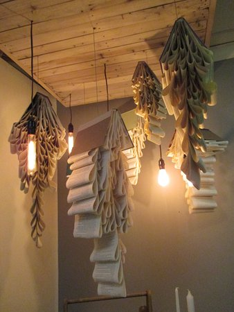 Lewisburg, PA: Chandeliers made from books