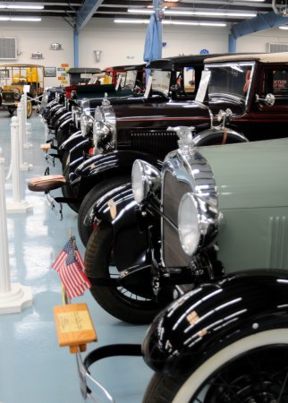 Rio Rancho, NM: A line up of vintage cars.