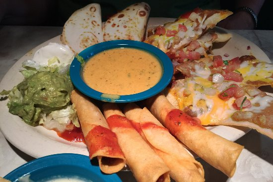 Chuy's Norman: Chuy's appetizer sampler makes a great meal for two!