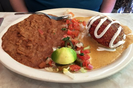 Chuy's Norman: The stuffed avocado (at right) tasted good, but was very spicy. It's not something we'd order ag