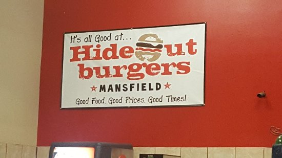 Mansfield, TX: Hideout Burgers