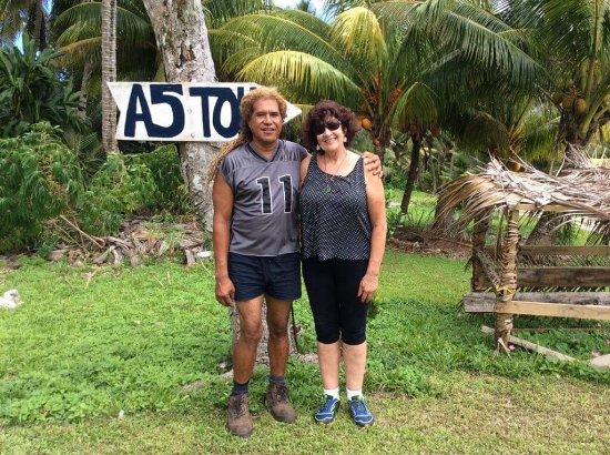 Mutalau, Niue: Tony and me