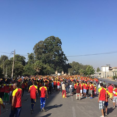 Arba Minch, Etiopia: Great Ethiopian run Addis Ababa.