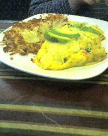 Exeter, CA: Vegetarian omelet.
