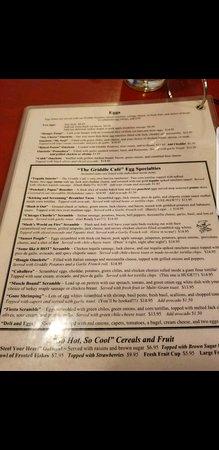 Griddle Cafe Los Angeles Menu