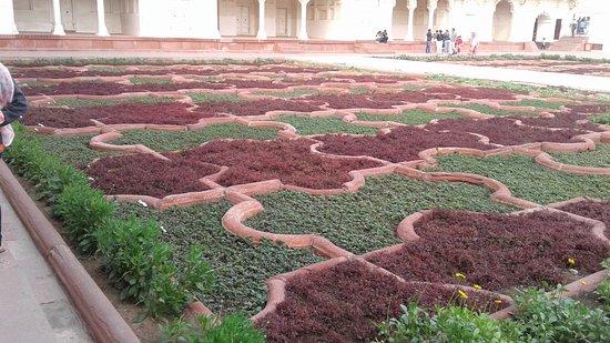 Anguri Bagh : Symmetrical flower beds