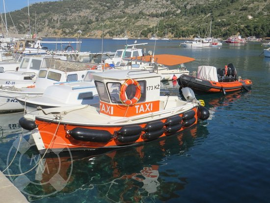 Island of Vis, Kroatien: This is our taxi boat for taking people from yachts to town.