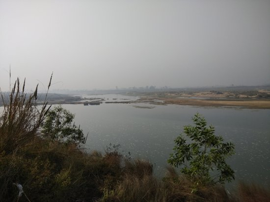 Birbhum District, Ấn Độ: Panoramic view of Ajoy river from Aruni Resorts,Joydeb Kenduli,Birbhum,India