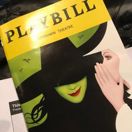 Wicked: playbill