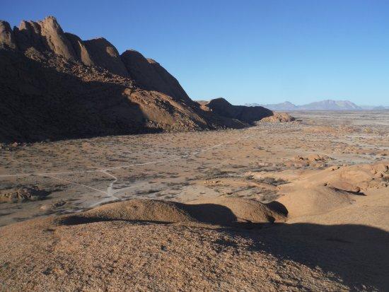 Usakos, Namibia: Looking east on Spitskkop Mt.