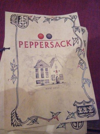 Peppersack : Меню
