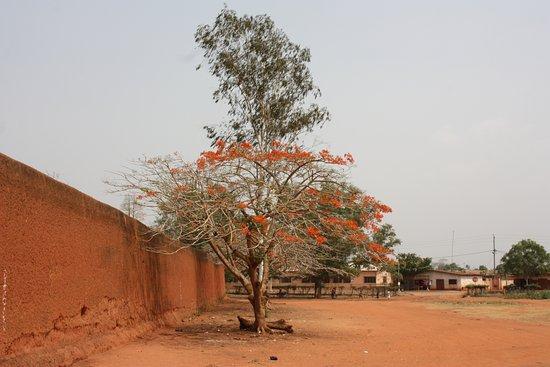 Abomey, Benin: Un lato del muro di cinta del palazzo