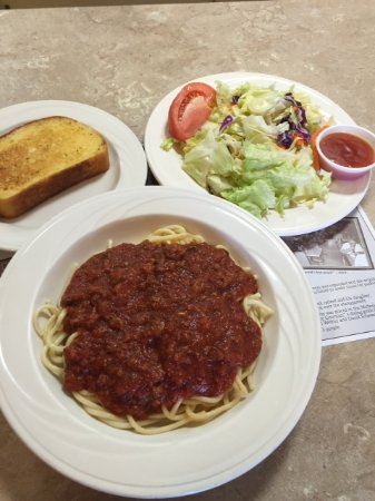 Ashland, OH: Every Wednesday is spaghetti day with our own homemade sauce!