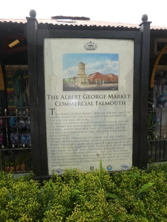 Falmouth, Jamaica: Sign For Historic Building