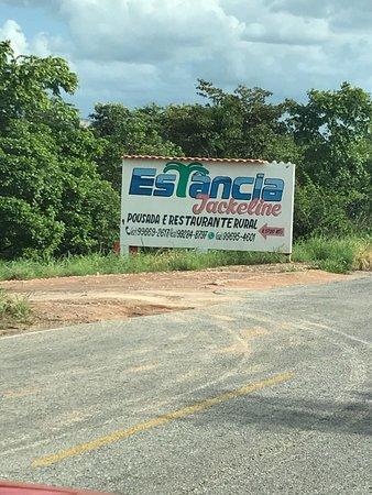 Aurora do Tocantins, TO: Entrada da pousada