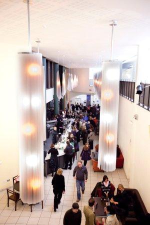 Ennis, Ireland: glór's award winning building boasts a daytime café & full bar service alongside evening events.