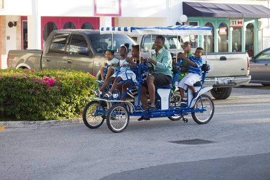 Providenciales: Our Double Bench Pedal Car holds up to 6 Adults and 2 small children up front