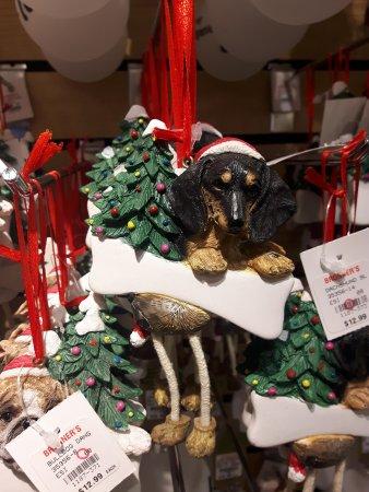 Frankenmuth, MI: A dachshund ornament <3
