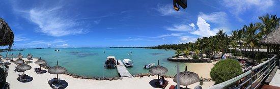Anse La Raie: Blick vom Boat House