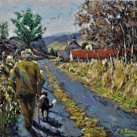 Adare, Ireland: Evening Stroll sold to St Louis USA
