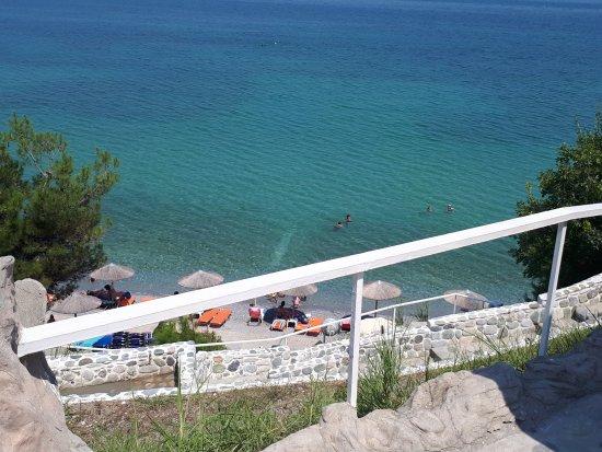 Korinos, Yunanistan: место где купались