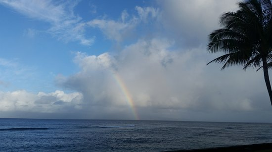 Lokelani Condominiums: Rainbow seen from lanai of A105