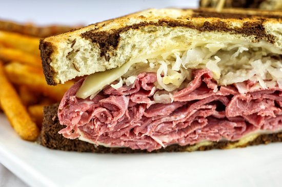 Storm Lake, IA: Our world famous reuben. Served on marble rye bread and piled high. It's a treat!
