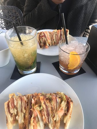 Club Sandwich And Drinks A Perfect And Delicious Lunch